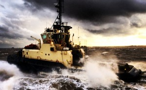 BTA Photography winner (2014) - Rough Weather Svitzer Trimley in rough weather on the  River Humber Sam Willis, Svitzer